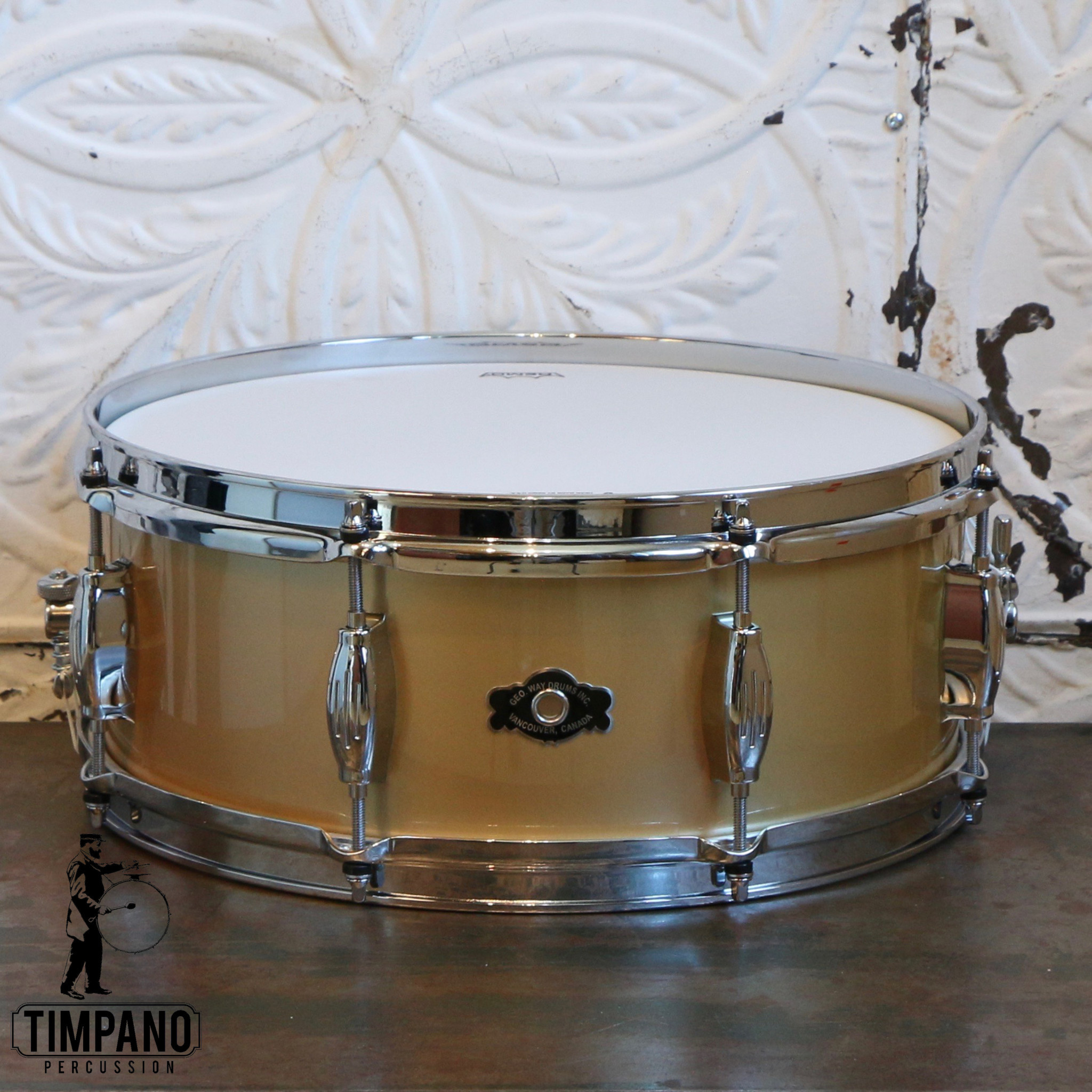 George Way George Way Waygold Studio Snare Drum 14X5.5in - Gloss