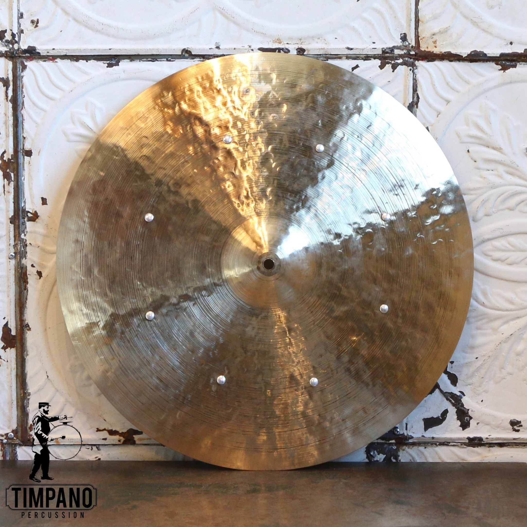 Byrne Cymbals Byrne Light Vintage Ride Cymbal 20in - 8 rivets