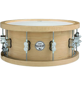 Pacific Caisse Claire PDP PDSN6514NAWH 6.5x14 20-Ply Maple w/ Thick Wood Hoops Natural Lacquer w/ Chrome HW