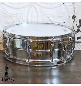 "Ludwig Caisse claire usagée Ludwig Chrome Over Brass ""Super Ludwig"" '58-59 14X5po"