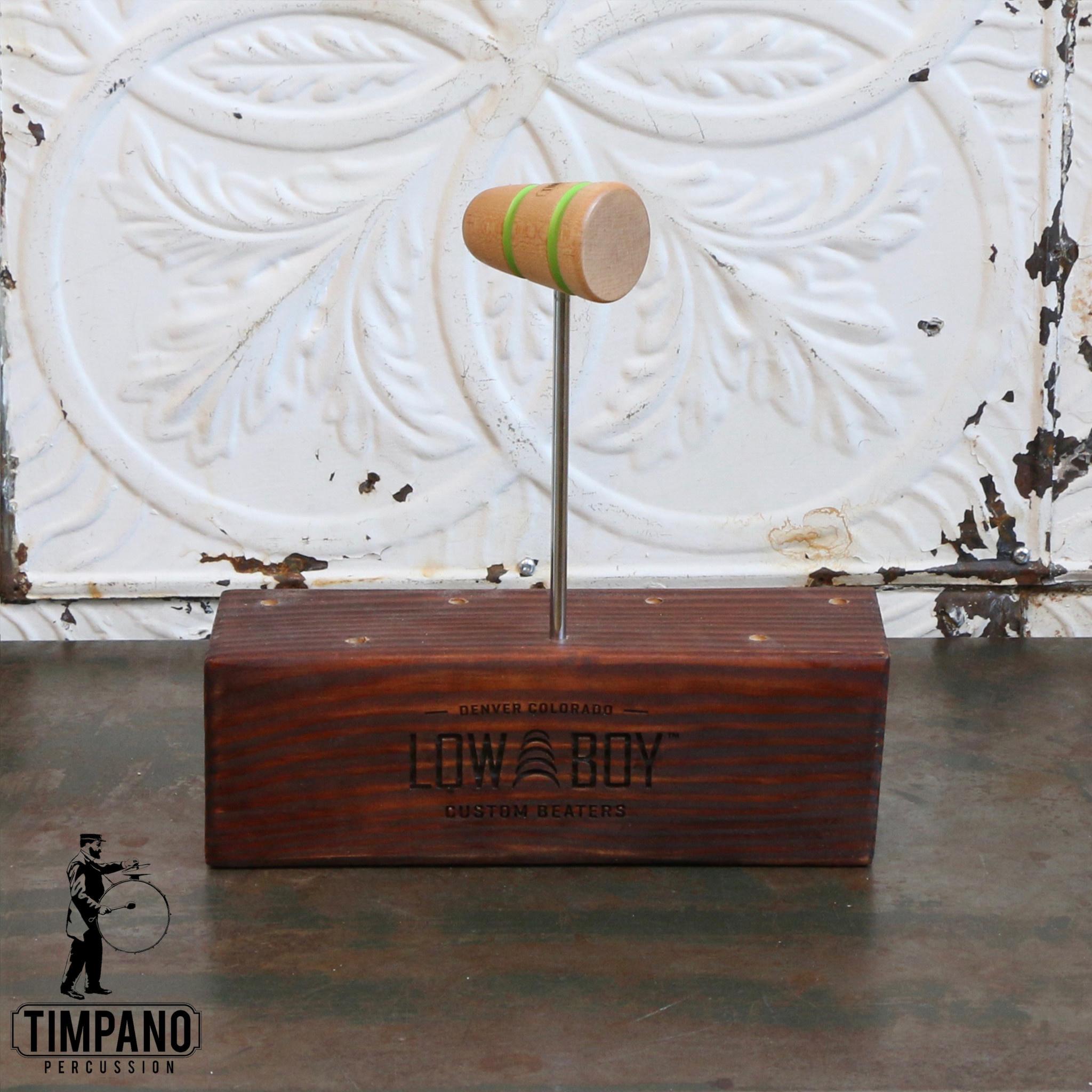 Low Boy Low Boy Standard Timpano Bass Drum Beater (natural, green line)