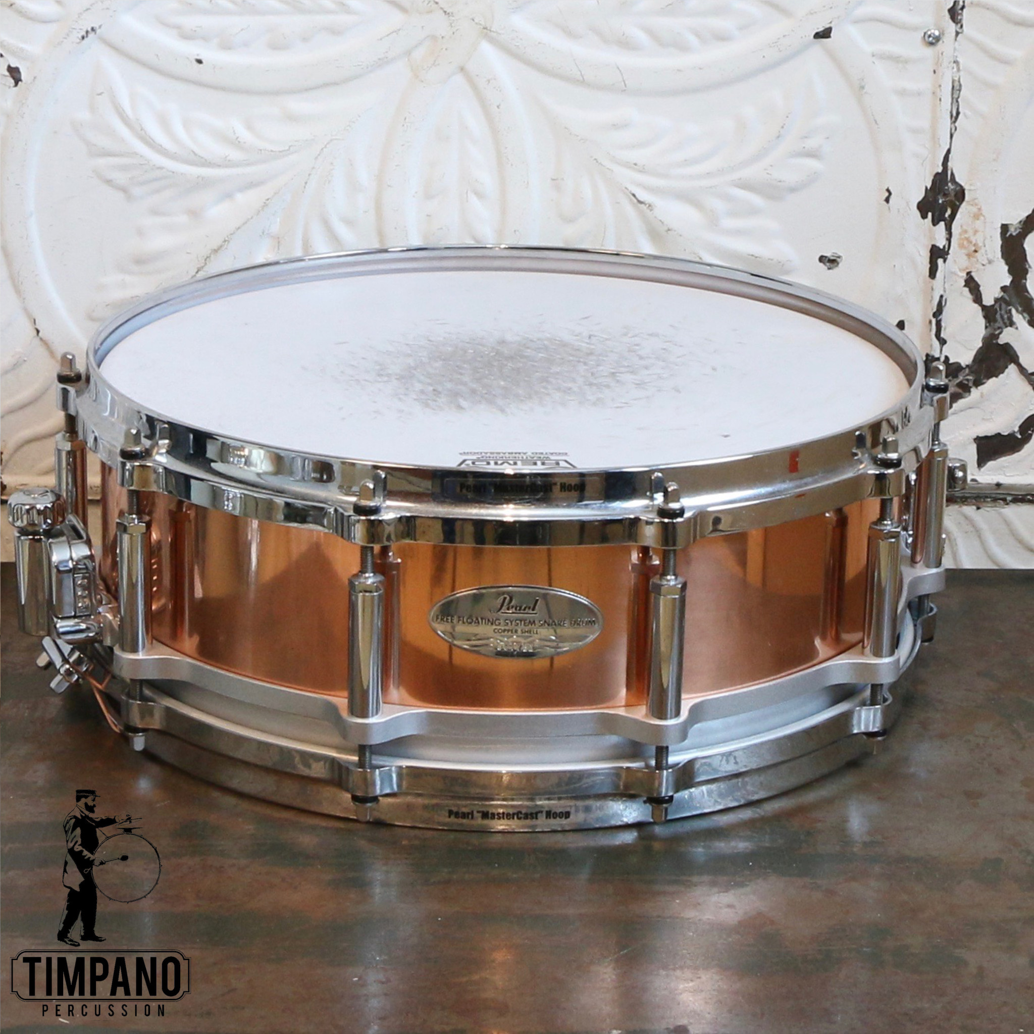 Pearl Used Pearl Free-Floating Copper Snare Drum 14X5in