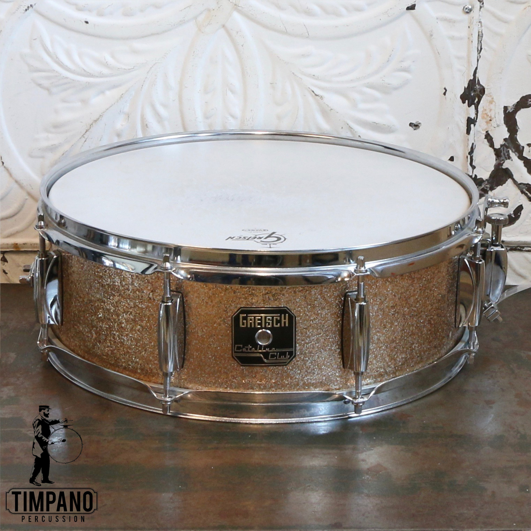 Gretsch Caisse claire usagée Gretsch Catalina Club 14X5po - Champagne Sparkle