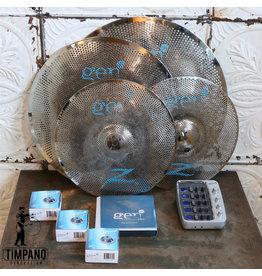 Zildjian Ensemble de cymbales électroniques usagées Zildjian Gen16 (hats 14-crash 18-ride 20)
