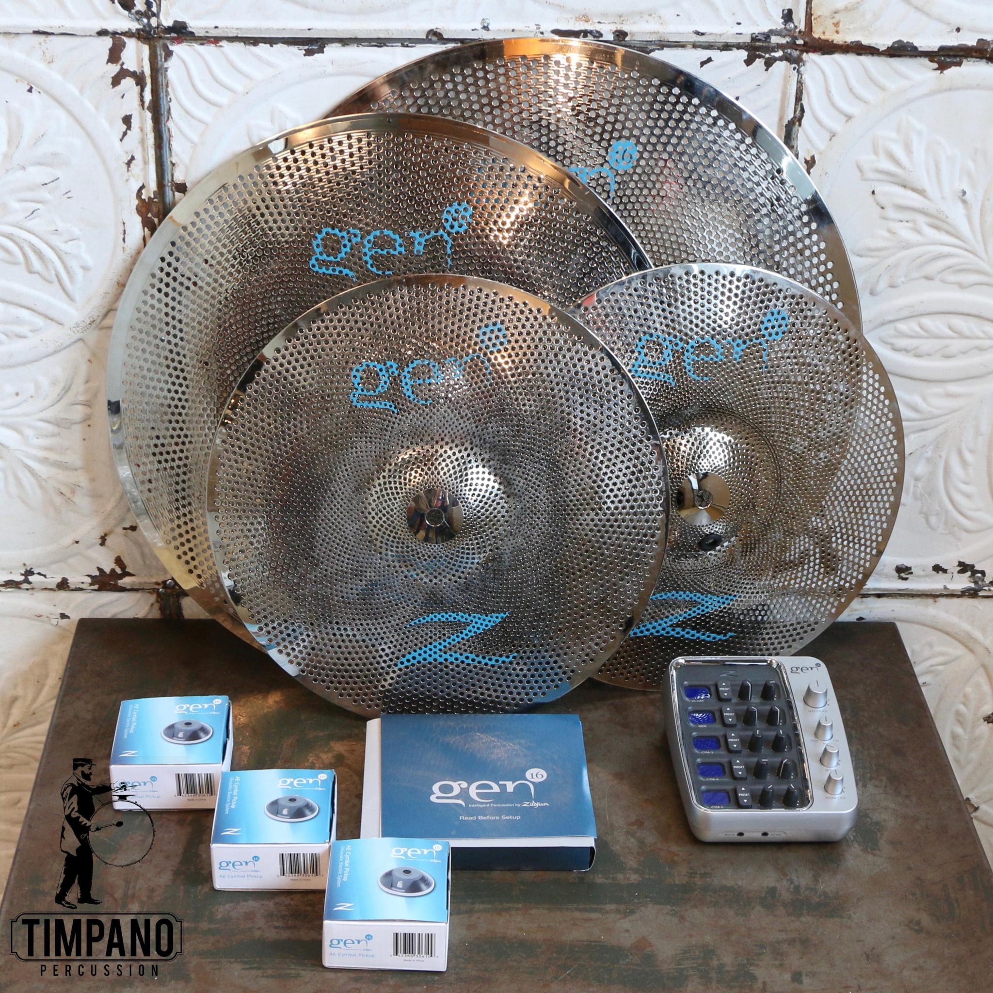 Zildjian Used Zildjian Gen16 Electronic Cymbal Pack (hats 14, crash 18, ride 20)
