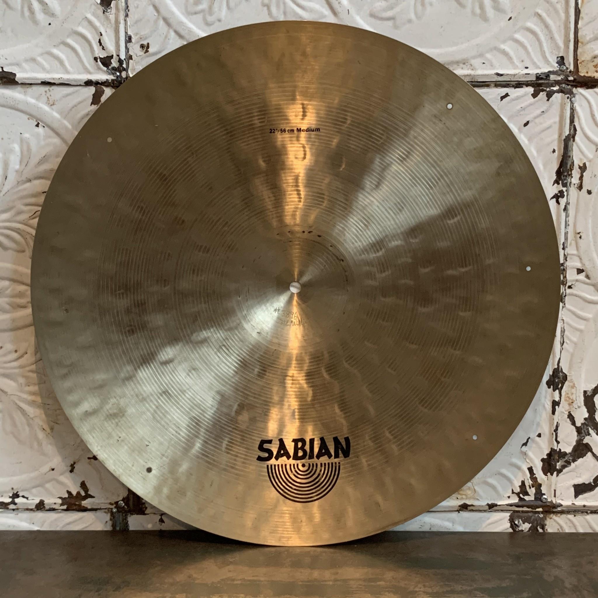 Sabian Used Sabian Artisan Vault Medium Ride 22in (drilled)