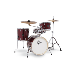 Gretsch Batterie Gretsch Energy 4 Pc Street Kit w/ HW Ruby Red Sparkle (cymbals not included)