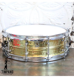 Ludwig Used Ludwig Supraphonic Hammered Brass Snare Drum 14X5in