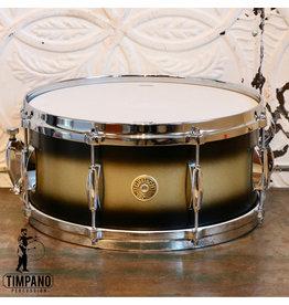 Gretsch Gretsch USA Custom Snare Drum 14X6.5in - Satin Black Gold Duco