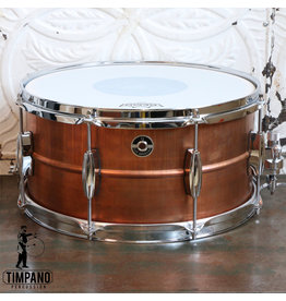 Q Drum Company Q Drum Gentlemen's Copper Snare Drum 14X7in