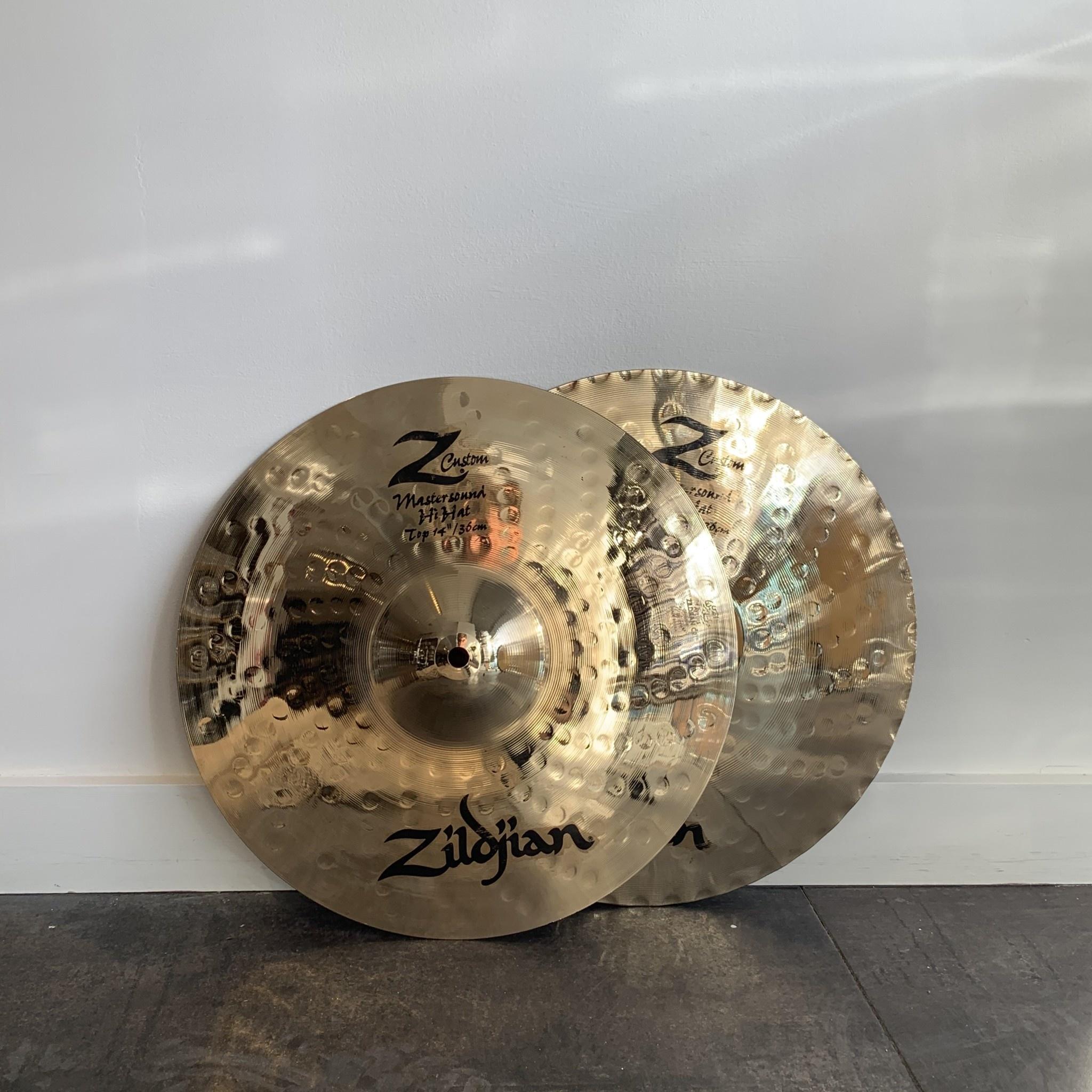 Zildjian Used Zildjian Z Custom Mastersound Hi-hat Cymbals 14in