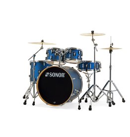Sonor Sonor AQ1 Kit 20-10-12-14 + 14in Snare Drum - Dark Blue Sparkle (with HS2000)
