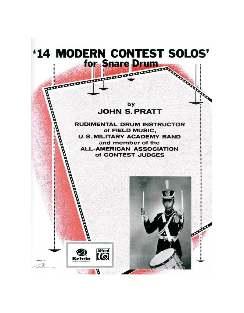 Alfred Music Méthode 14 Modern Contest Solos Drum