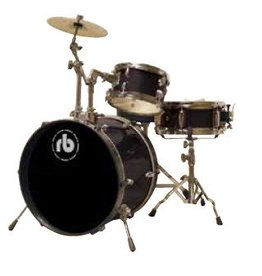 RB RB 3 piece Drum Kit Black