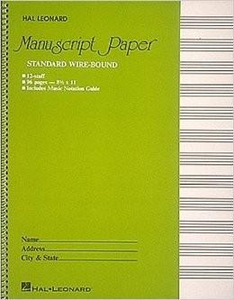 Hal Leonard Standard Wirebound Manuscript Paper (Green Cover) Manuscript Paper