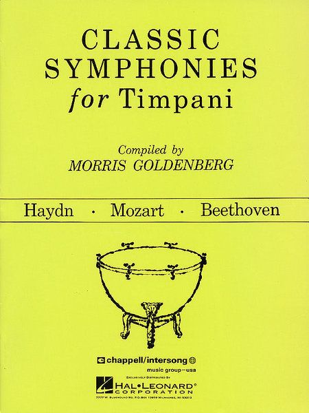 Hal Leonard Classic Symphonies For Timpani Percussion