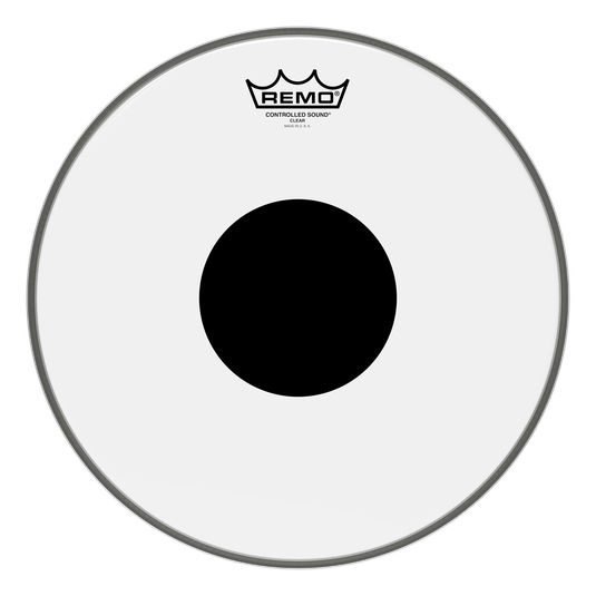 Remo Remo Controlled Sound Clear Black Dot