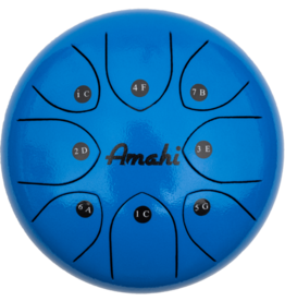 Amahi Amahi Tongue Drum 8in - Blue (with bag)