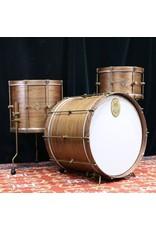 A&F Drum Co Drumkit A&F Walnut Club Kit 22x16-13x8-16x14in