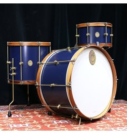 A&F Drum Co A&F Chandler Blue Club Kit with Rosewood Hoops 24x14, 13x8, 16x14in