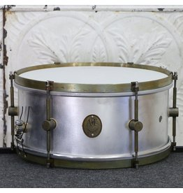 A&F Drum Co A&F Raw Aluminum Snare Drum 14X6.5 6 lugs
