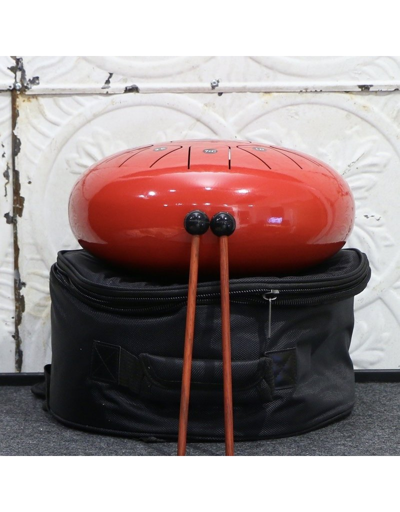 "Amahi Amahi 12"" Steel Tongue Drum Red"