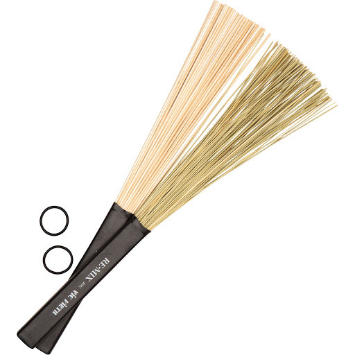 Vic Firth Vic Firth REMIX Brushes - Combo Pack (African Grass & Birch)