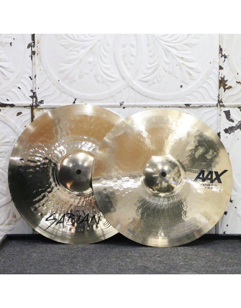 Sabian Sabian AAX Medium Brilliant Hi-Hat Cymbals 14in (962/1334g)
