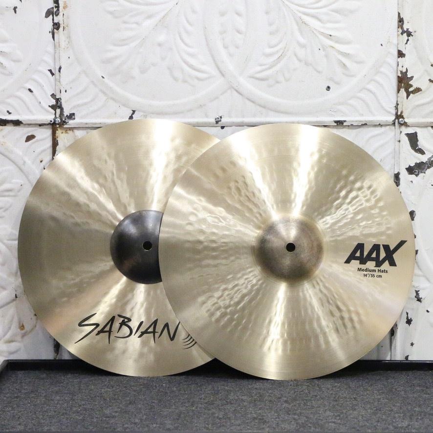 Sabian Sabian AAX Medium Hi-Hat Cymbals 14in (1006/1270g)