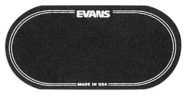 Evans EVANS Black Nylon Bass Drum Patch double (X2)