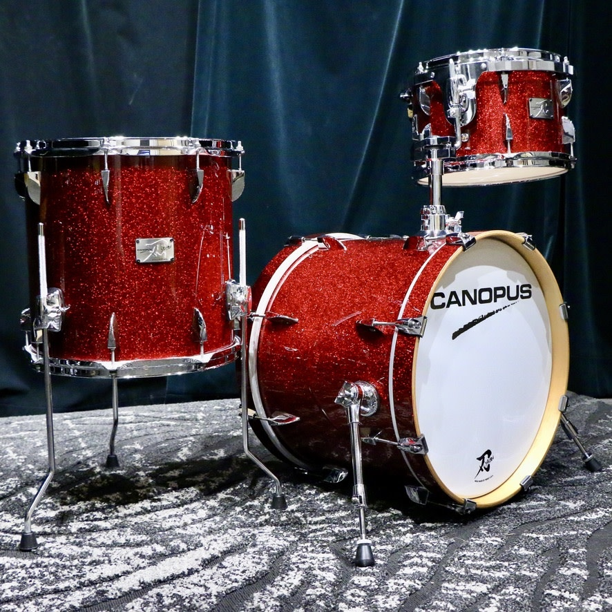 Canopus Canopus Yaiba Maple Drum Kit 18-12-14in - Dark Red Sparkle Lacquer
