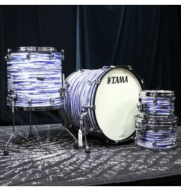 Tama Tama Starclassic Maple Drum Set 22-10-12-16in - Blue White Oyster Duracover