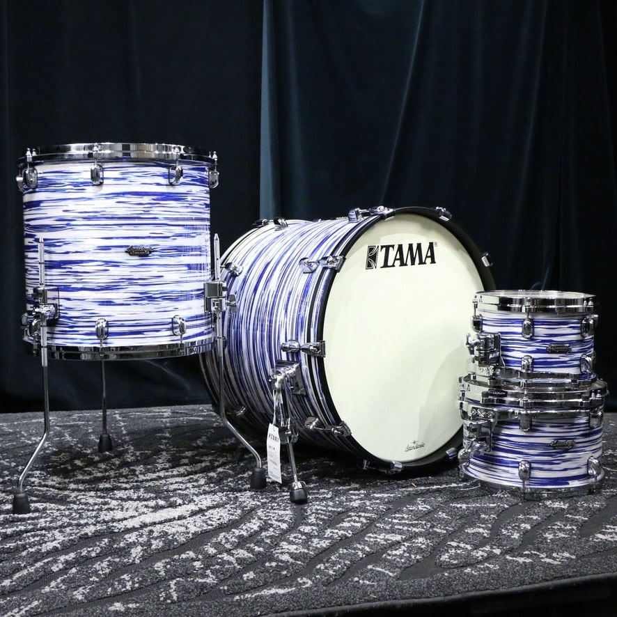 Tama Tama Starclassic Maple Drum Kit 22-10-12-16in - Blue White Oyster Duracover