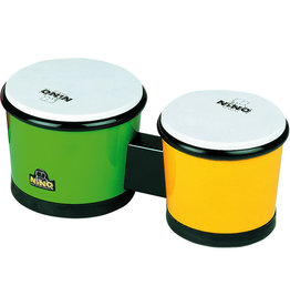 Meinl Bongos Meinl Nino ABS 6-1/2 et 7-1/2po - vert/jaune