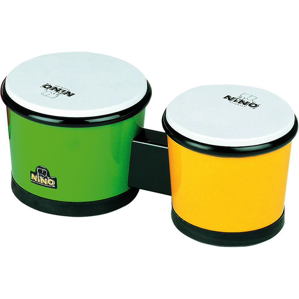 Meinl Meinl Nino ABS Bongos 6 1/2-7 1/2in - Green/Yellow