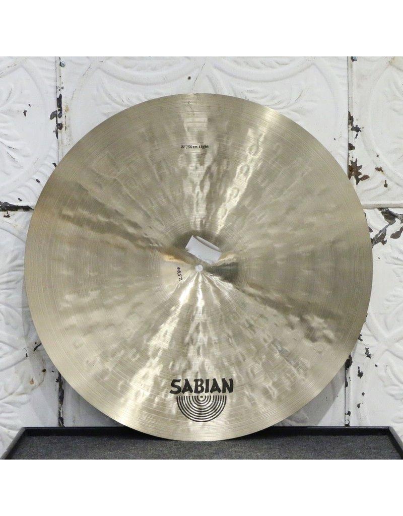 Sabian Cymbale ride Sabian Artisan Light 22po (2588g) - avec étui