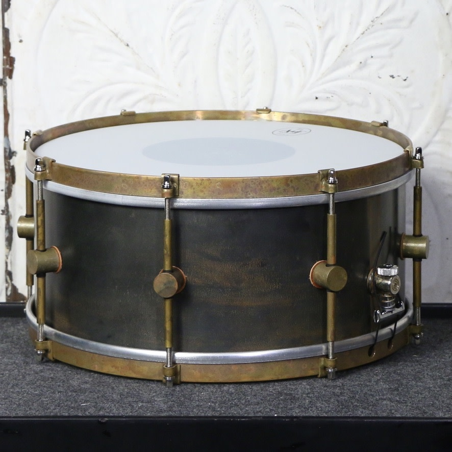 A&F Drum Co A&F Raw Steel Snare Drum 14X6.5in