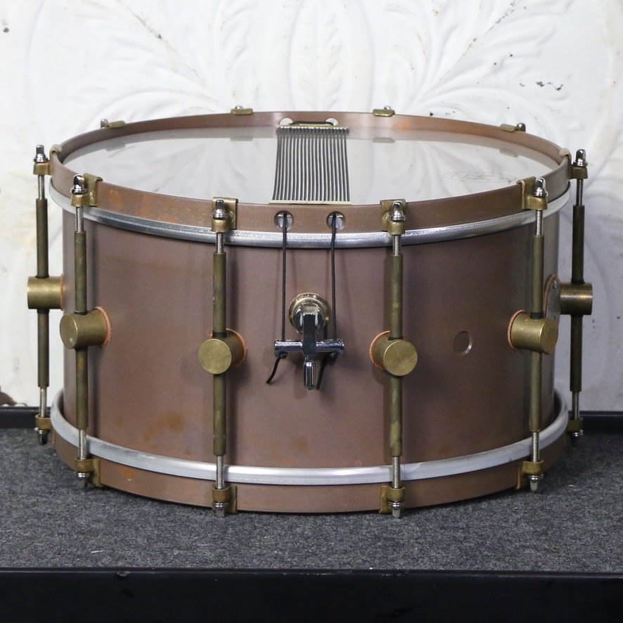 A&F Drum Co A&F Raw Brass Snare Drum 13X7in