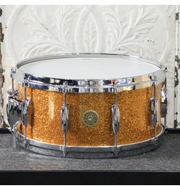 Gretsch Gretsch USA Custom Maple/Gum Snare Drum 14X6.5po - Gold Glass