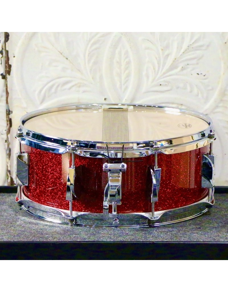 Canopus Canopus Yaiba Maple Snare Drum 14X5.5in - Dark Red Sparkle Lacquer
