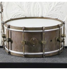 A&F Drum Co Caisse claire A&F Raw Brass 14X6.5po
