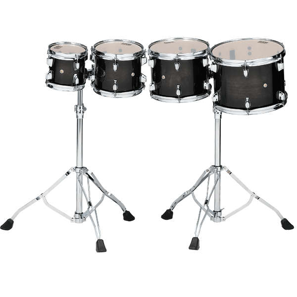 Tama Tama High-Pitched Double-Headed Maple Concert Toms 6-8-10-12in with stands