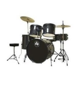 RB RB 5-piece Drumkit, Black Sparkle