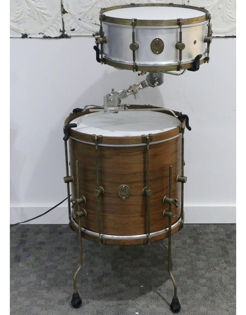 A&F Drum Co A&F Nickel Cocktail Basket & Kick Pedal Clamp 10-16in/10-16in