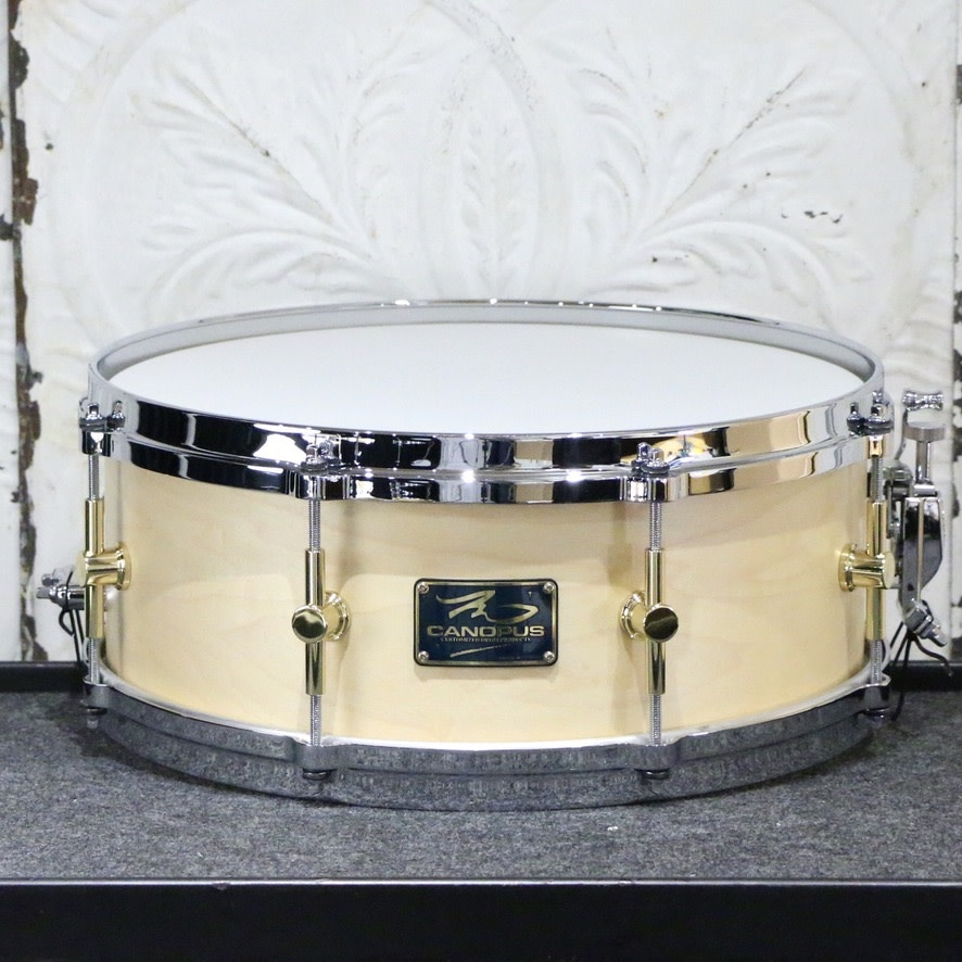 Canopus Canopus The Maple Snare Drum 14X5.5in - Natural Oil