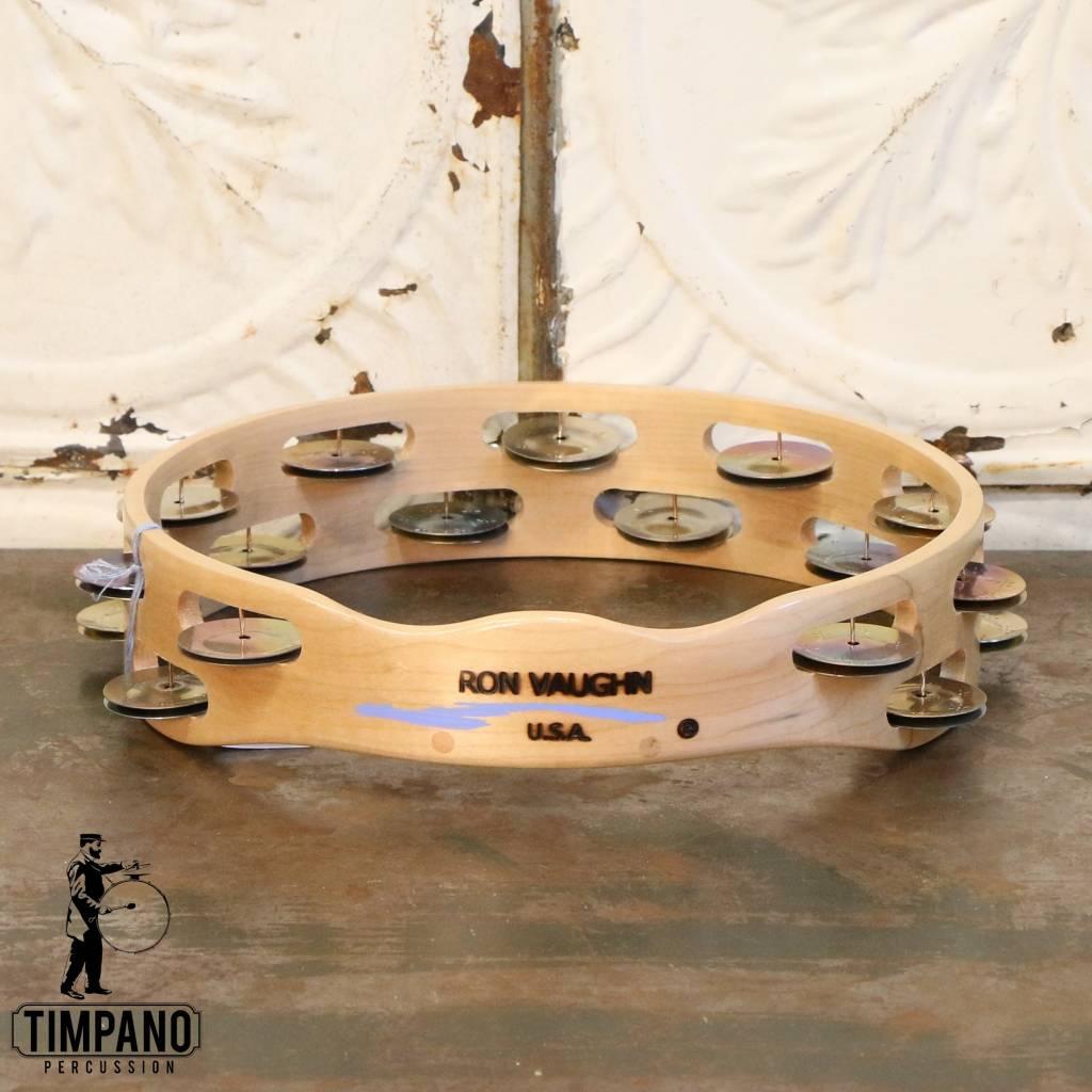 Ron Vaughn Ron Vaughn Maple/Silver Tambourine 10in