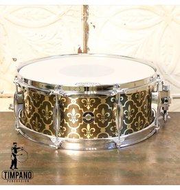 Q Drum Company Caisse claire Q Drum Brass Fleur-de-lys 14X5.5po