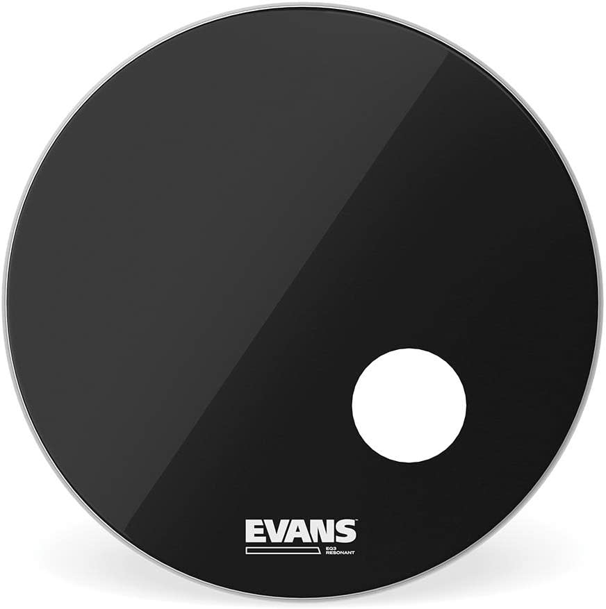 Evans Evans EQ3 Black Bass Drum Reso Head 22in