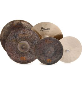 Meinl Mike Johnston Set Byzance: 14in Extra Dry Hats, 20in Extra Thin Hammered Crash, 21in Transition Ride, FREE 18in Extra Dry Thin Crash