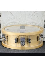 Pacific PDP Concept Maple Snare Drum 14X5.5in - Natural Lacquer, wood hoops